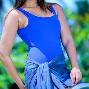 Blue Swimming Tankini