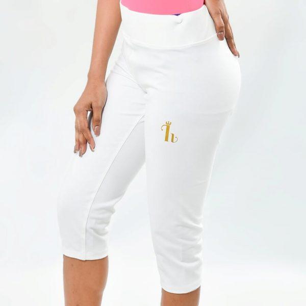 Ladies 3/4 Pant White